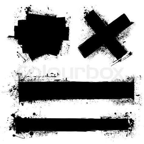 grunge design elements vector black ink splat with roller marks and grunge effect