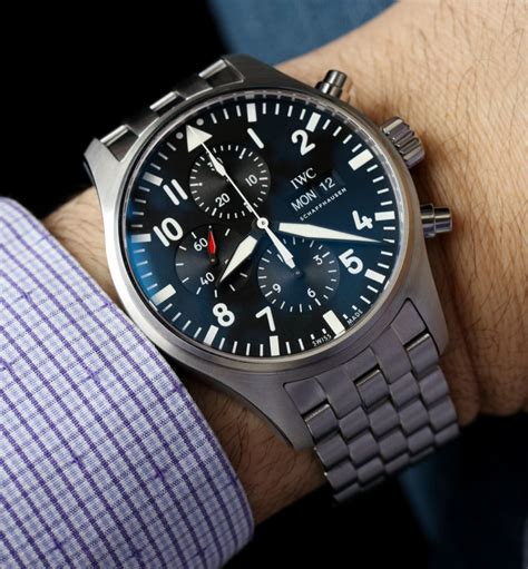 IWC Pilot's Watch Chronograph 3777 Timepieces For 2016 Hands On   aBlogtoWatch