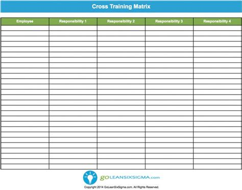 employee cross template employee safety matrix template excel