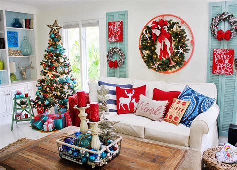 red white and blue home decor 40 beautiful home d 233 cor ideas to try out this coming christmas
