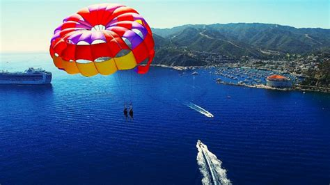 boat ride to catalina island catalina island parasail ride catalina tours