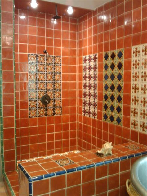 mexican tile bathroom ideas mexican tile shower santa cyn inspirations tile showers showers and