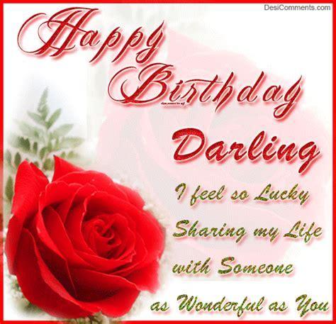 Happy Birthday Darling   DesiComments.com