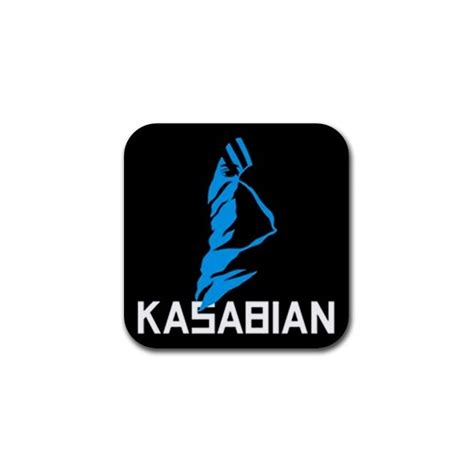 rubber st logos kasabian logo rubber coaster on stuff