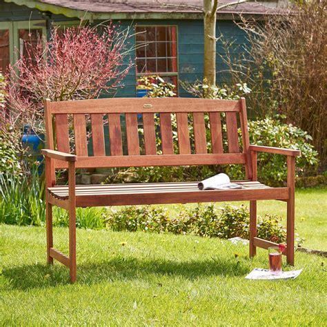 2 seater wooden garden bench vonhaus 2 seater wooden hardwood garden bench patio