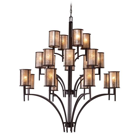 brown chandelier l shades chandelier with brown mica shades in aged bronze finish
