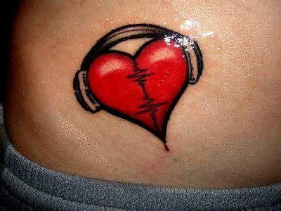 heartbeat headphones tattoo love tattoos