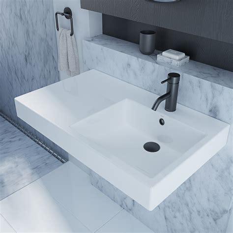caroma bathroom products caroma liano nexus 750 wall basin bunnings warehouse