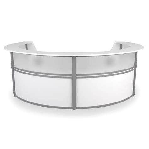 Ofm Marque Plexi 4 Unit Reception Desk In White 55314 White Ofm Reception Desk