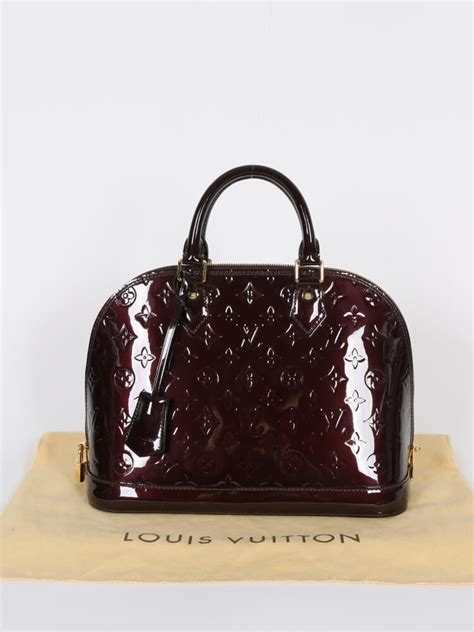 Louis Vuitton Alma Vernis Collection by Louis Vuitton Alma Pm Monogram Vernis Leather Amarante