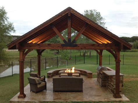 outdoor pavillon this beautiful yet rustic freestanding post and beam