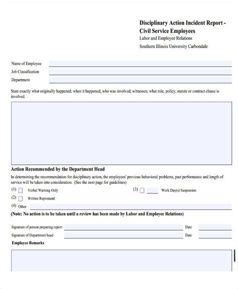 employee incident report template employee incident