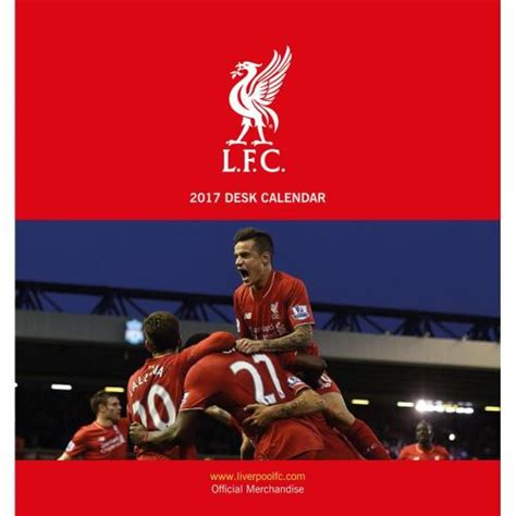 liverpool official 2017 calendar liverpool f c desktop calendar 2017 for only 163 8 34 at merchandisingplaza uk