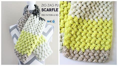 zig zag puff stitch pattern crochet zig zag puff stitch