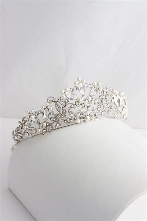Handmade Bridal Tiaras - wedding tiara handmade bridal crown pearl wedding