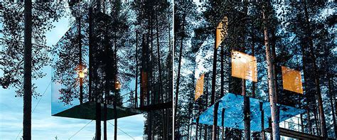 wallmarks tree house hotels the mirrorcube tree house hotel sweden be you spirit
