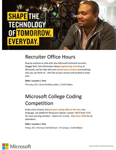Microsoft Mba Recruiting by Microsoft Recruitment Session And Coding Competition