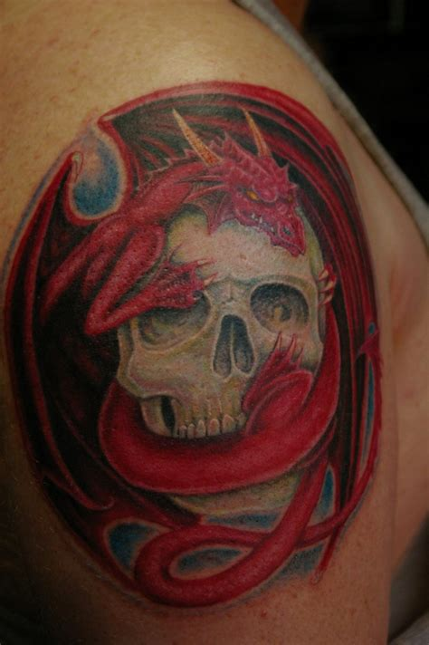 dragon skull tattoo 100 s of skull design ideas pictures gallery