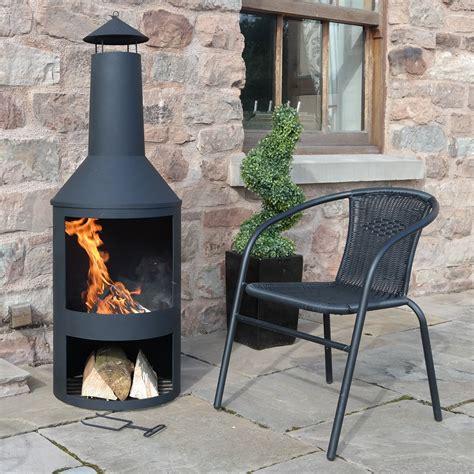 patio fireplace chiminea castlecreek outdoor cooking