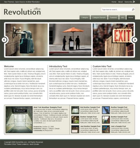 wordpress themes free office revolution office wordpress theme