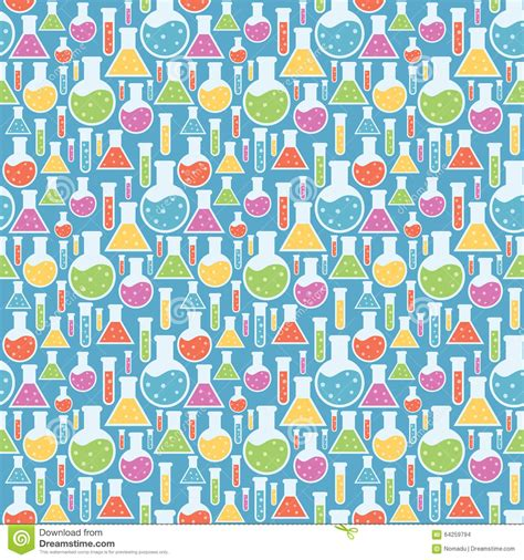 pattern background science seamless science laboratory pattern stock photo image