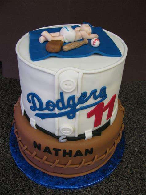 dodger baby shower cake cakecentral