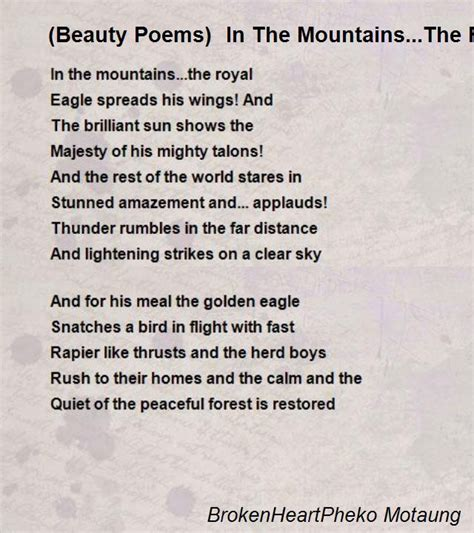 in the mountains of poetry books poems in the mountains the royal eagle spreads
