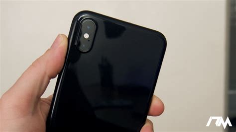 iphone xs max jet black ultra thin jet black case  totallee review youtube