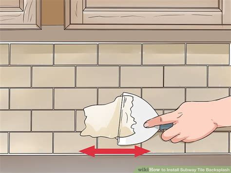 how to install subway tile backsplash with pictures
