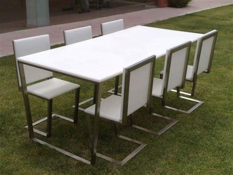 sillas acero inoxidable sillas y mesas en acero inoxidable prenitor inoxidables