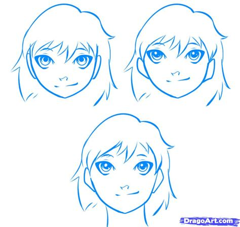 Easy Way To Draw A by How To Draw An Easy Anime Step By Step Anime