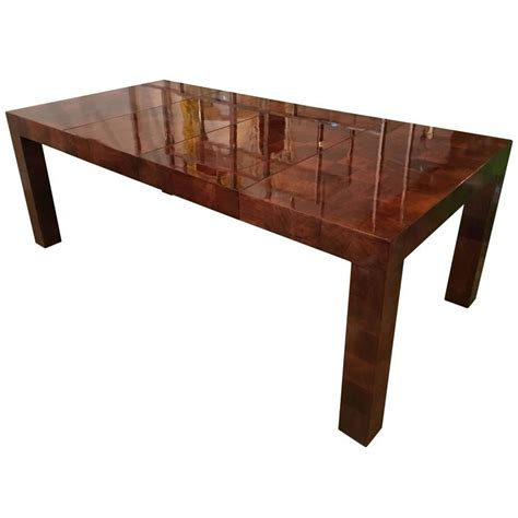 milo baughman patchwork dining table newly restored burl