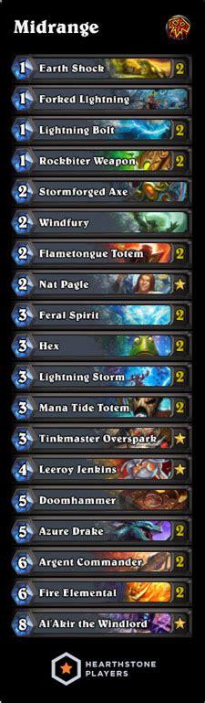 level 1 shaman deck hearthstone midrange shaman deck list legend rank