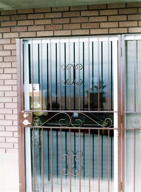 Security Window Grates Window Guards Doors The Iron Iron Security Doors For Sliding Glass Doors
