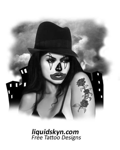 lady joker clown tattoos designs free tattoo designs