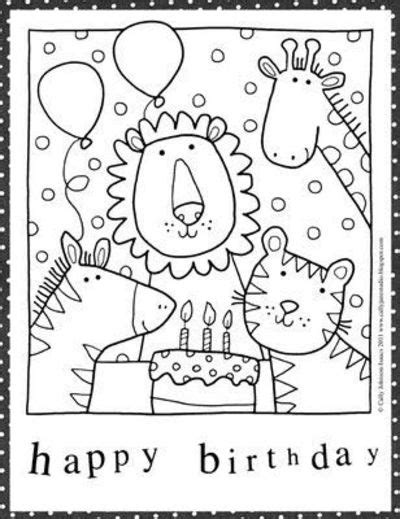 printable coloring pages happy birthday free happy birthday coloring pages