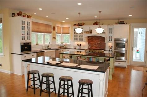 country kitchen designs with islands country kitchens double island kitchen and islands on