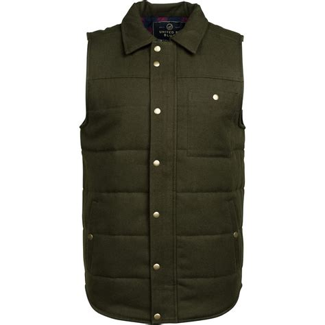 yarn vest united by blue drummond wool vest men s backcountry com