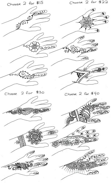 henna tattoo price list simple henna simple mehndi designs for step by