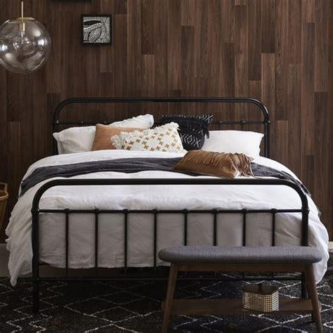temple webster black bailey metal bed frame reviews