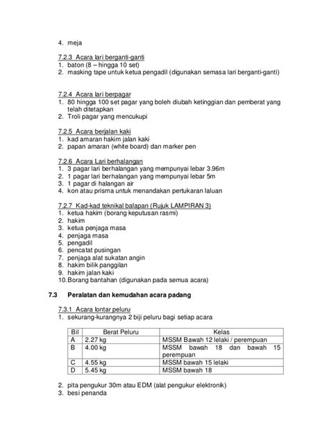 Alat Olahraga Jalan Kaki microsoft word panduan pengelolaan sukan olahraga sekolah