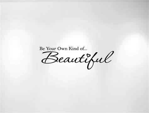 be your own of beautiful vinyl wall decal 1152