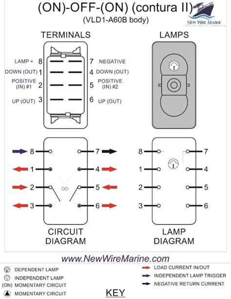 rocker switch wiring diagrams  wire marine
