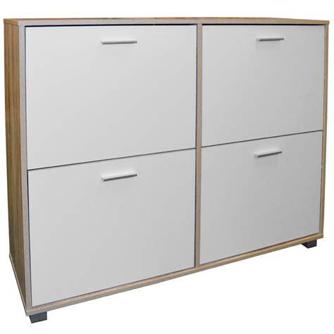 Large Shoe Storage Cabinet Bigfoot Xl Large 24 Pair Shoe Storage Cabinet Light Oak White Watson S On The Web