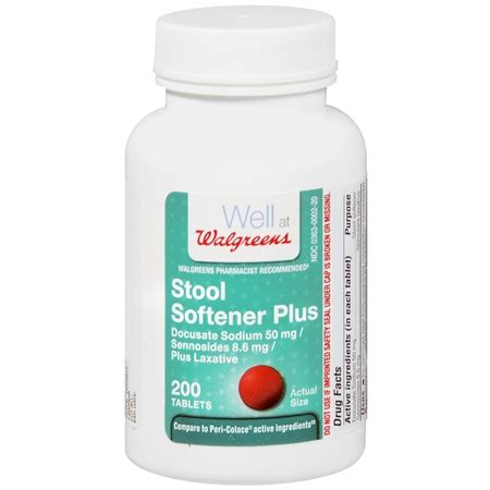 Can You Take Stool Softeners With Laxatives by Walgreens Stool Softener Plus Laxative Tablets Walgreens