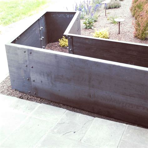 Metal Planters by 17 Best Ideas About Corten Steel Planters On