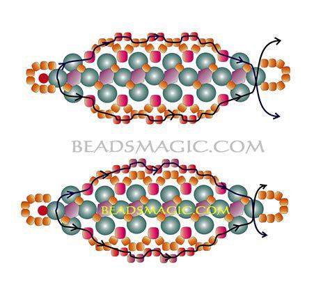 free beaded bracelet patterns free pattern for beaded bracelet sona magic