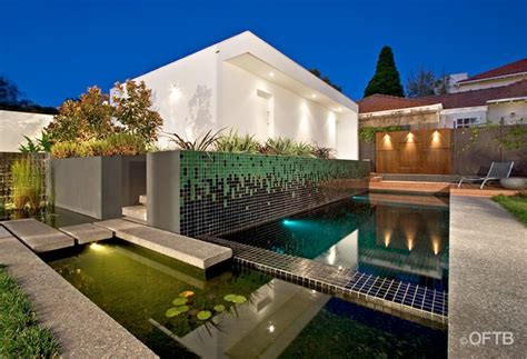 Outdoor Entertaining Area Ideas - oftb melbourne landscaping pool design amp construction project pool inc pond amp feature wall