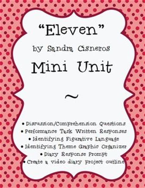 themes for short story eleven eleven by sandra cisneros activities projects