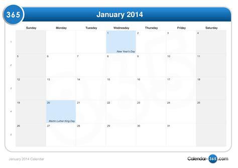 Jan 2014 Calendar January 2014 Calendar